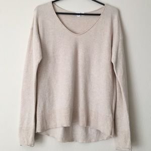 NWOT Gap 100% Cotton V-Neck Tan Sweater